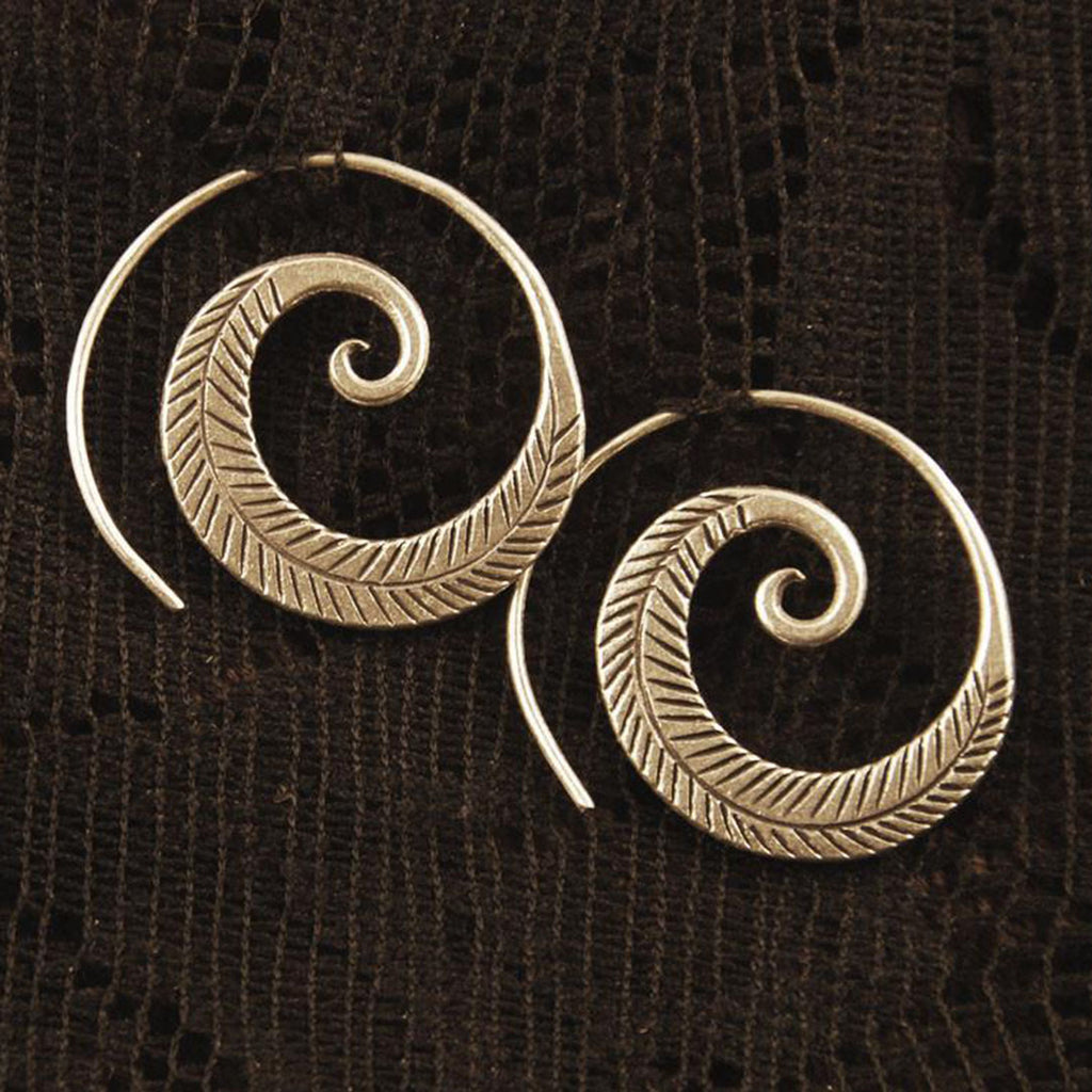 Feather Spiral Earrings