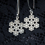 Flower of Life Snowflake Earrings