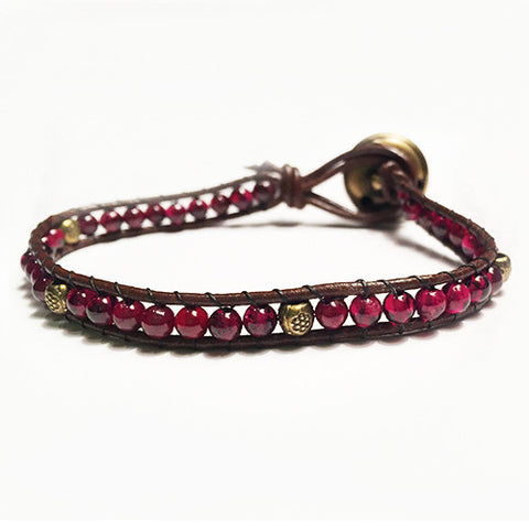 Gemstone Energy Bracelets - Passion - Garnet
