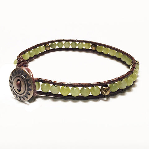 Gemstone Energy Bracelets - Vitality - Serpentine