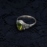 tribal ring, gemstone
