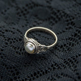 yoga ring, sterling silver