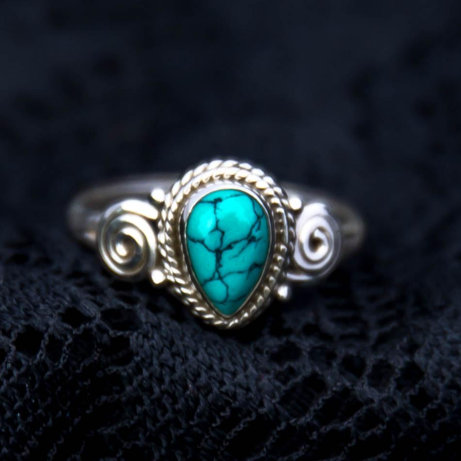 sterling silver, gemstone, turquoise inlay