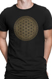 Gold Flower of Life Mandala T-shirt