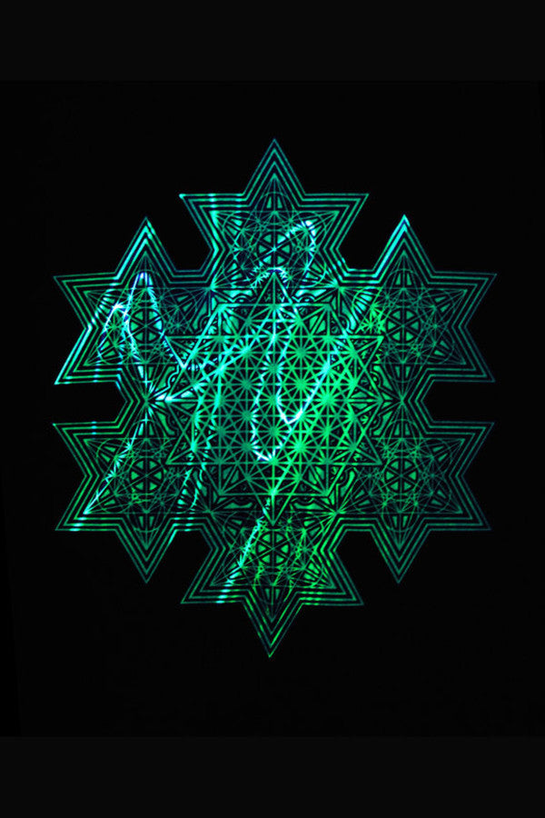 Light Warrior Meta-tetrahedron T-shirt - UV Reactive
