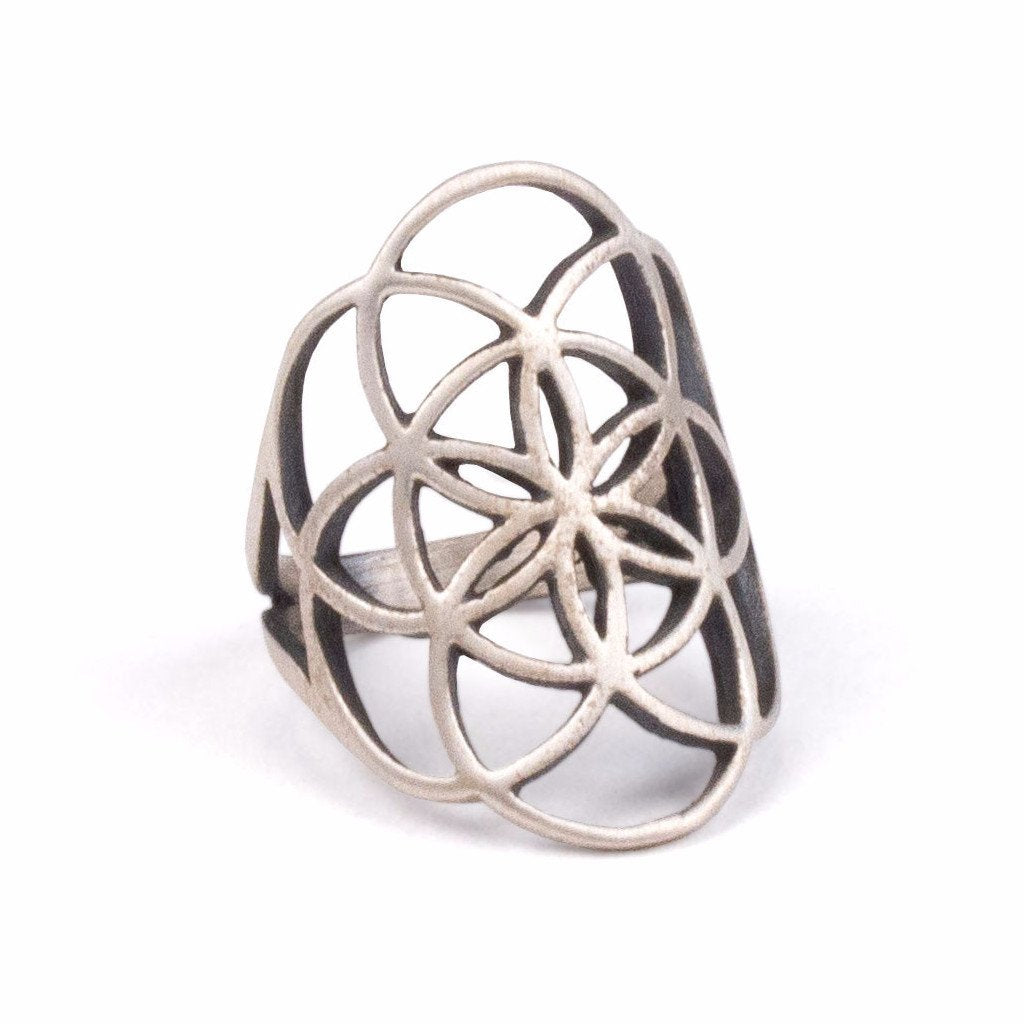 Seed Of Life Ring | Sterling Silver | TRIBE Jewelry by Sarah Lewis
