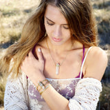 Signature Crystal Necklace | Grande | Gold / Quartz | TRIBE Jewelry