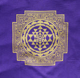 Sri Yantra Mandala T-shirt - navy or purple