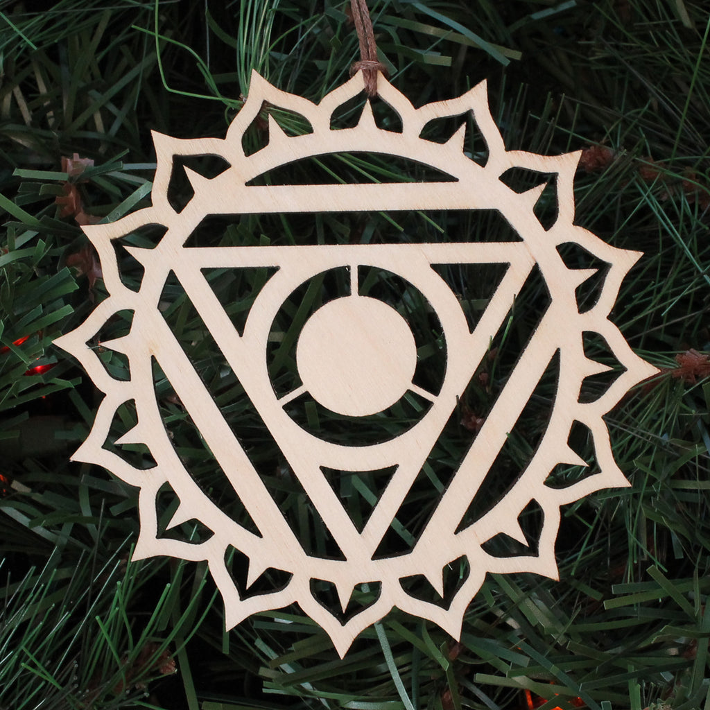 Throat Chakra Holiday Ornament