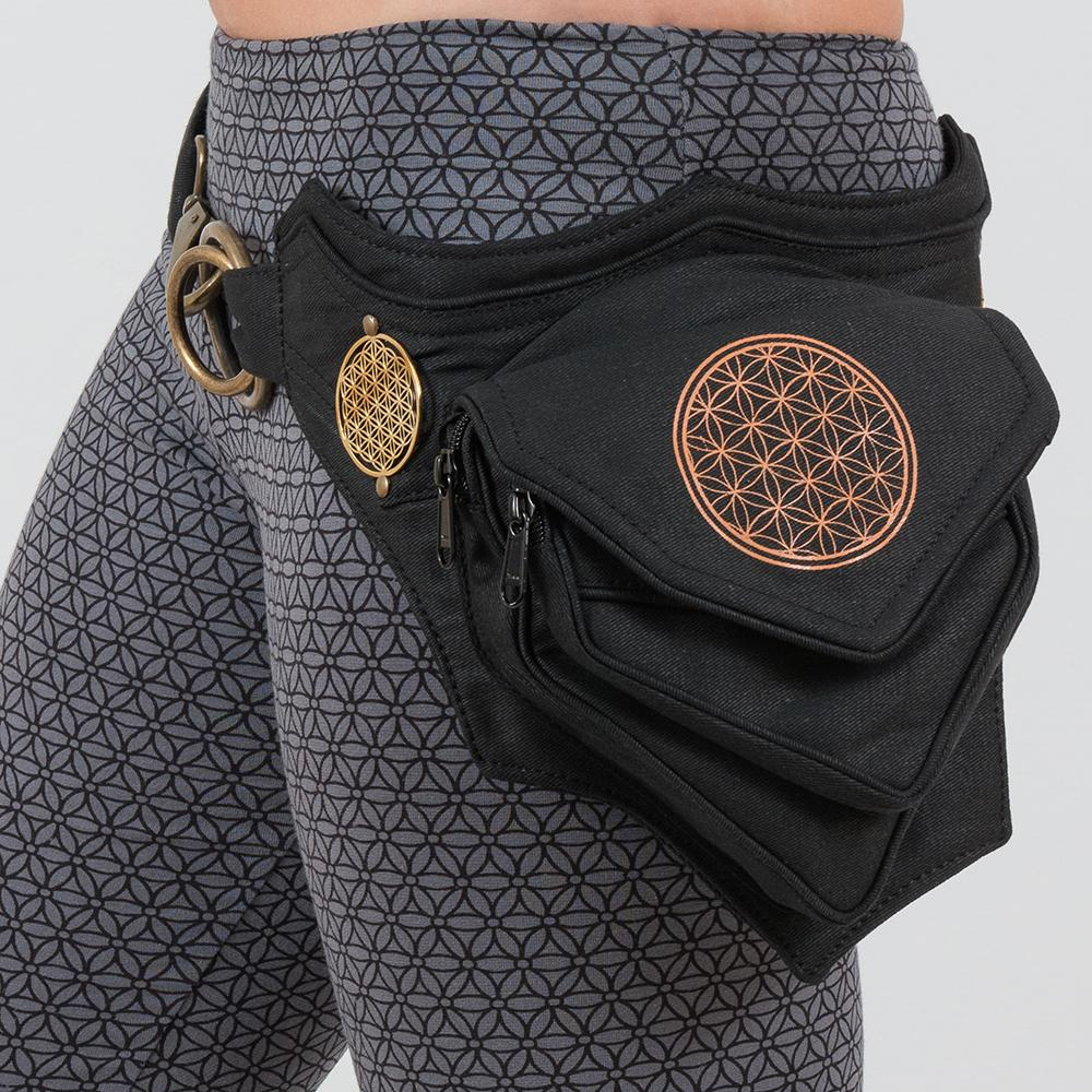 flower of life fanny pack, festival utility belt