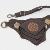steampunk pixie belt, psytrance hip bag, festival utility waist pack