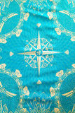 diamond lotus festival bandana face mask with gems and crystal and a compass center by Anahata Designs