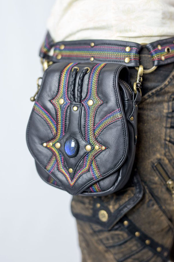Rainbow Serpent Bandolier Pocket Belt
