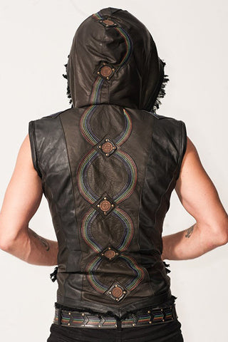 Rainbow Serpent Leather Jacket  - Men's