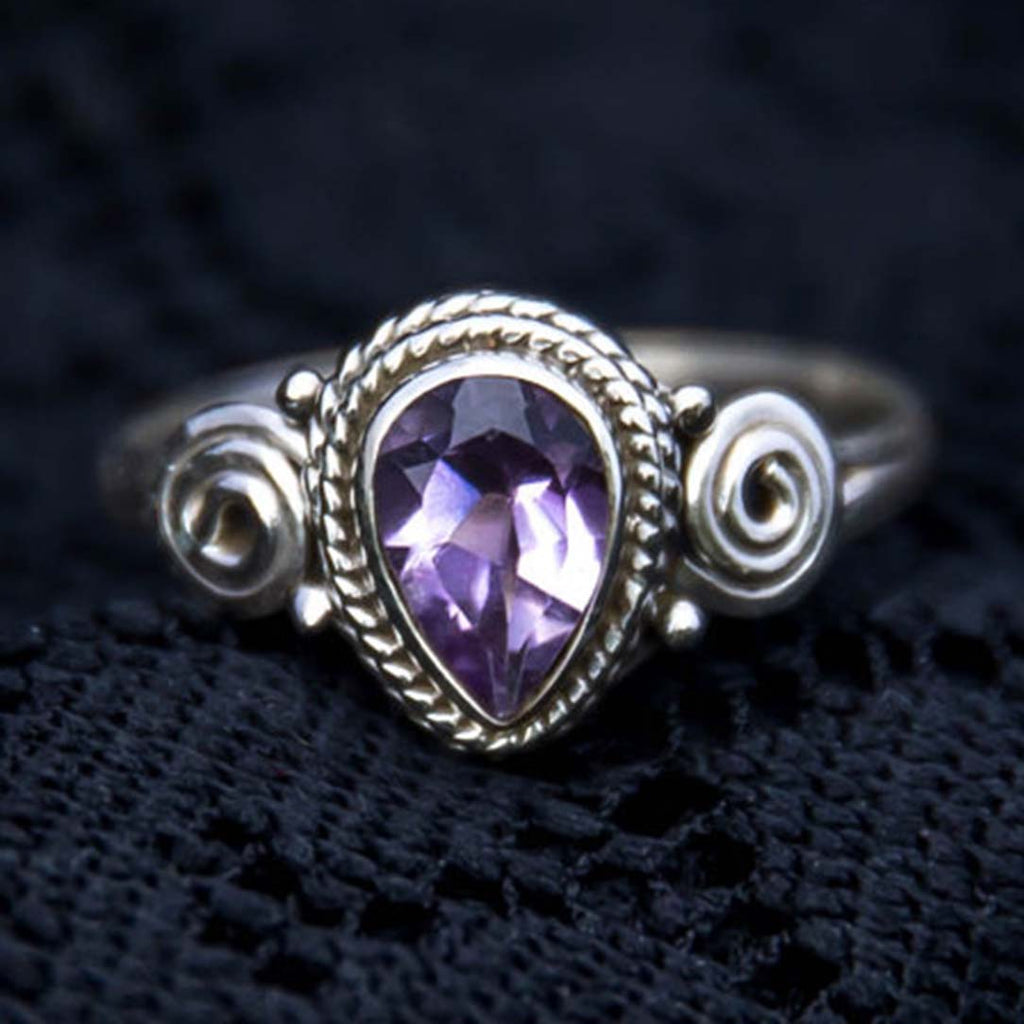 Anand Ring - Amethyst  - size 7.5 & 8.5 only