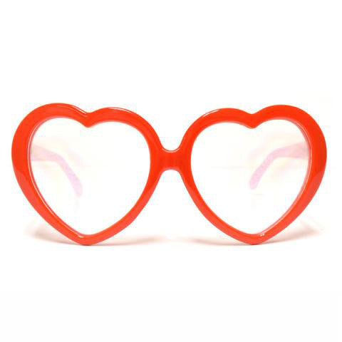 Red Heart Diffraction Glasses