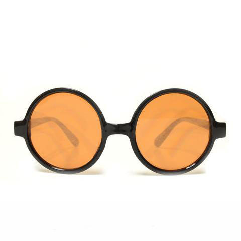 Round Amber Tinted Diffraction Glasses