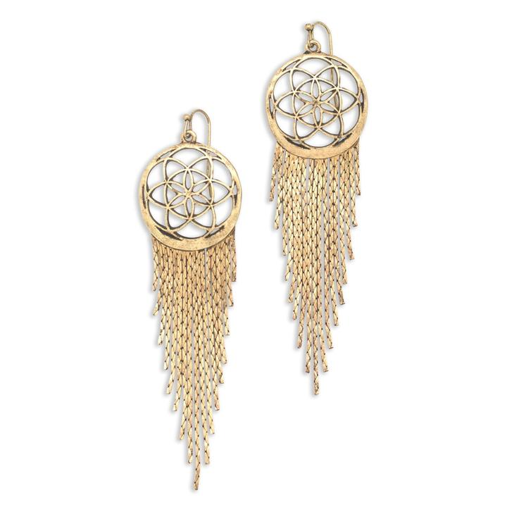 Dreamer Flower of Life Earrings - gold