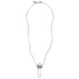 Quartz Crystal Necklace in Silver