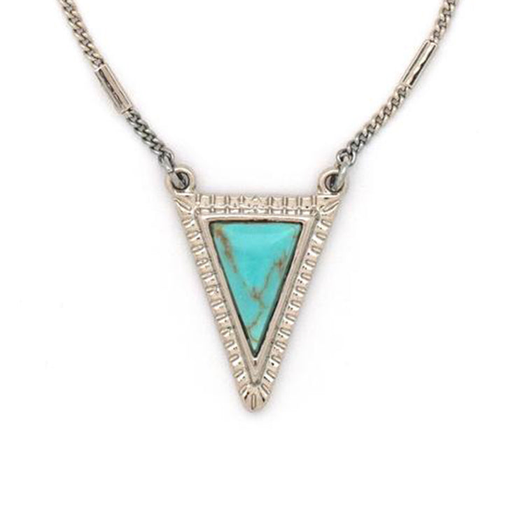 Triko Necklace in Silver & Turquoise