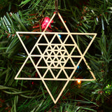 Star Fractal Ornament - 6 Sided