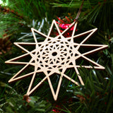 Star Fractal Ornament - 12 Sided