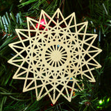 Star Fractal Ornament - 18 Sided