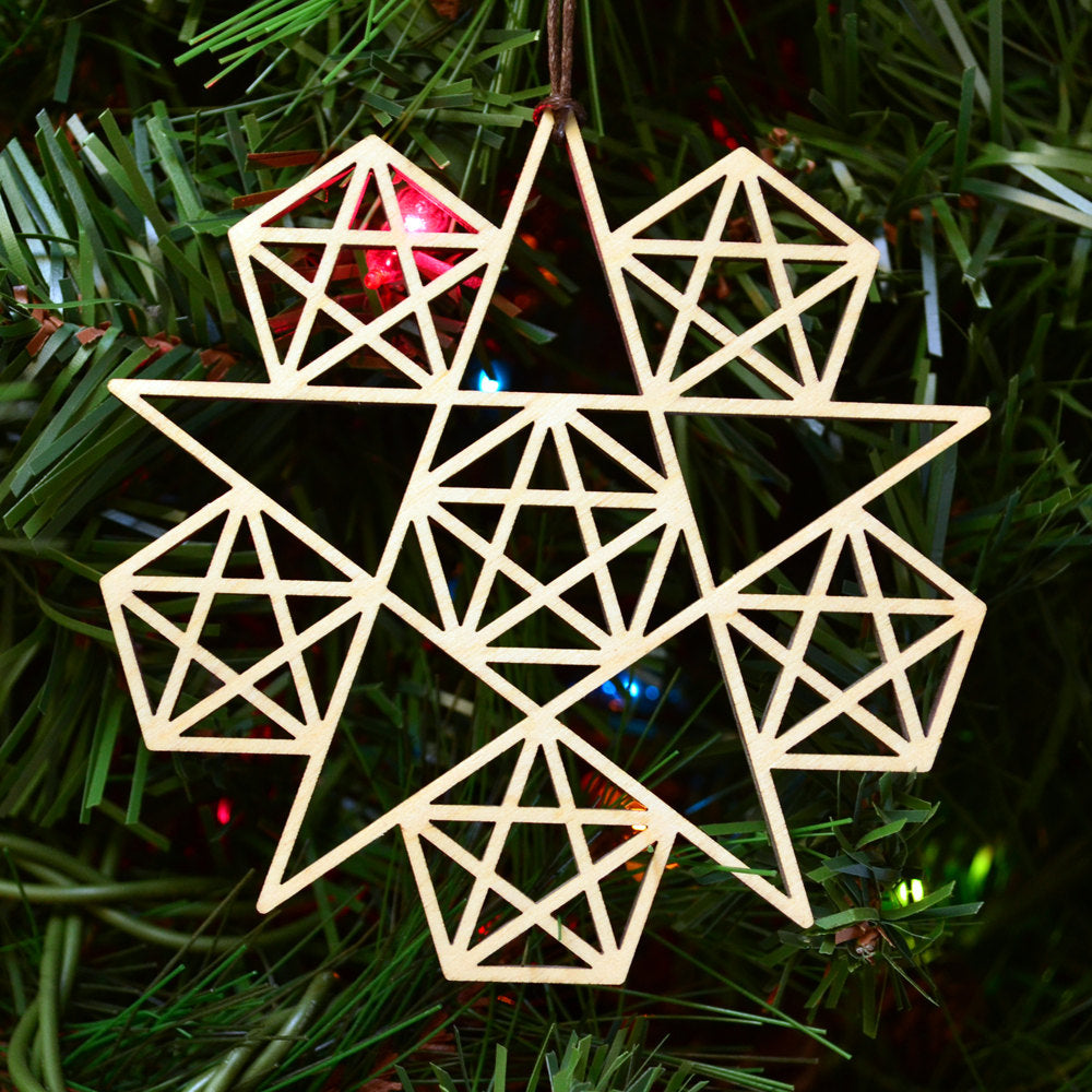 Star Fractal Ornament - 5 Sided