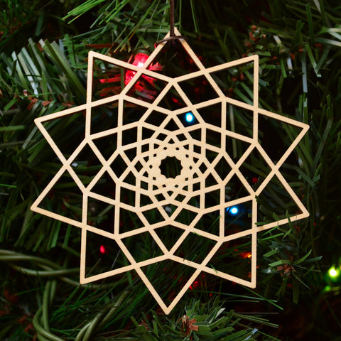 Star Fractal Ornament - 10 sided