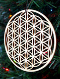 Flower of Life Holiday Ornament
