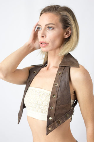 Nexus Vest - Leather with Chain - limited colors