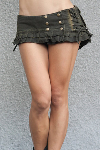 every woman's festival wear - the cotton canvas mini skirt belt with pockets