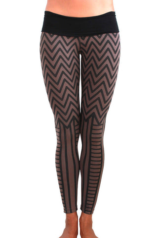 womens cotton tribal style yoga tights or leggings