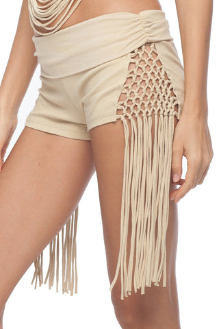 Macrame Tassled Booty Short - 7 colors