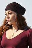 striped pirate bandana in organic cotton and bamboo for festival style by maha devi design