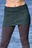 womens organic cotton and bamboo yoga style mini skirt to wear over leggings by maha devi design