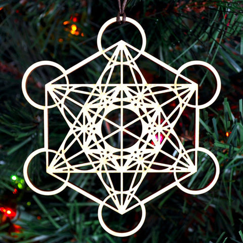 Metatron's Cube Holiday Ornament