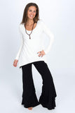 3 Tiered Flow Pants - solid colors