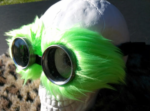 OTWS Steampunk Faux Fur Goggles for Burning Man