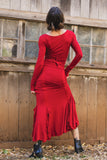 Flamenco Skirt, Red