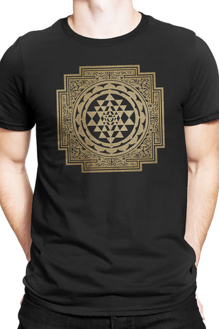 Sri Yantra Mandala T-shirt - black