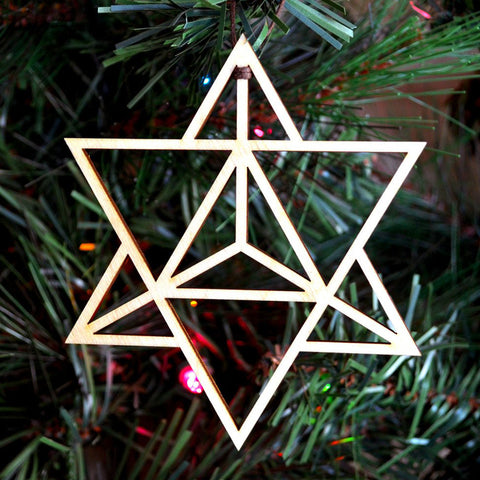 Star Tetrahedron Holiday Ornament