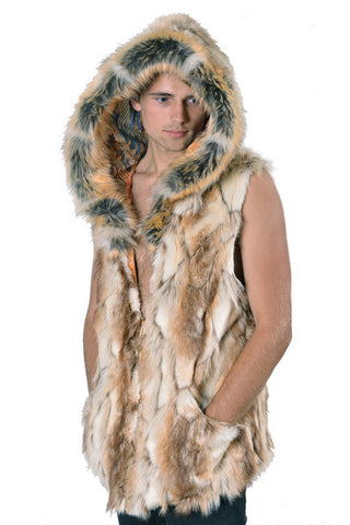 Desert Dwellers Faux Fur Hooded Vest
