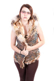 Flying Squirrel Faux Fur Hooded Vest