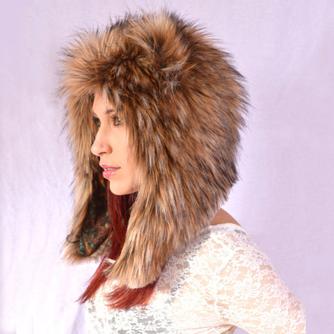 Grizzly Hat, Faux Fur