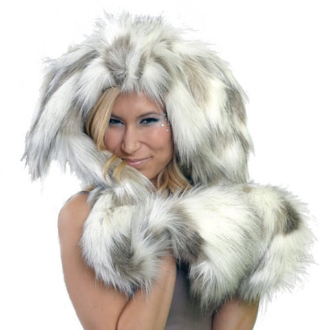 Lucky Rabbit Hood, Faux Fur