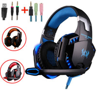 G2000 G9000 Gaming Headsets Big Headphones with Light Mic Stereo Earphones Deep Bass for PC Computer Gamer Laptop PS4 New X-BOX