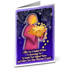Greeting Card- Basket Of Stars