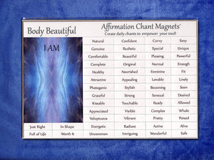 Daily Chants Magnets, Body Beautiful Series (Do not order with Vibropathics™)