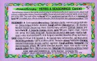 Aromatherapy: Herbs & Seasonings, Wallet Card #3